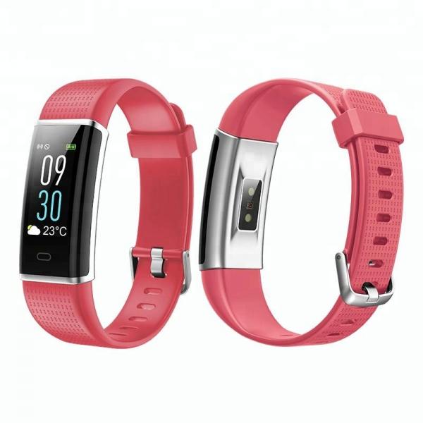 Bratara fitness MoreFIT™ ID130C Pro, LCD color, puls dinamic 24h, 14 moduri sport, rezistenta la apa ip67, stand-by 10-15 zile, notificari, rosu 1