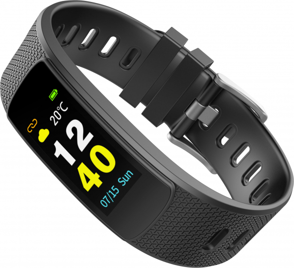 Bratara fitness MoreFIT™ iWown I6 HR C, Display color fulltouch, puls dinamic 24h, 7 moduri sport, , senzor lumina, rezistenta la apa ip67, notificari, negruu 2