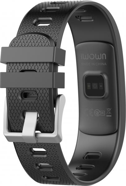 Bratara fitness MoreFIT™ iWown I6 HR C, Display color fulltouch, puls dinamic 24h, 7 moduri sport, , senzor lumina, rezistenta la apa ip67, notificari, negruu 1