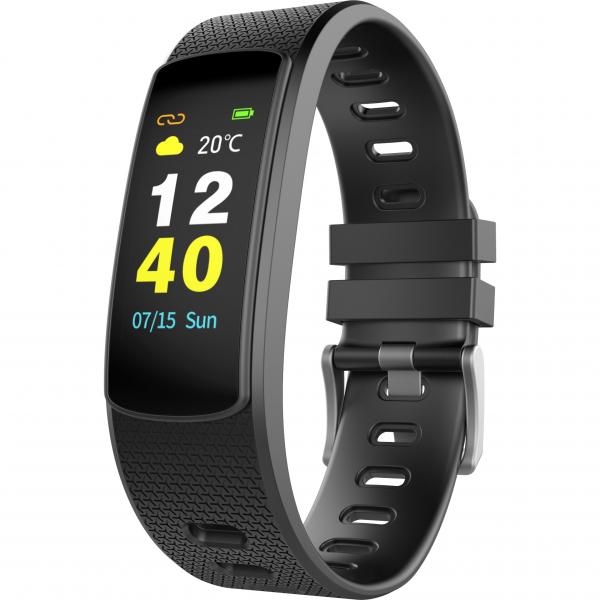 Bratara fitness MoreFIT™ iWown I6 HR C, Display color fulltouch, puls dinamic 24h, 7 moduri sport, , senzor lumina, rezistenta la apa ip67, notificari, negruu 0