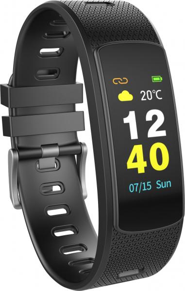 Bratara fitness MoreFIT™ iWown I6 HR C, Display color fulltouch, puls dinamic 24h, 7 moduri sport, , senzor lumina, rezistenta la apa ip67, notificari, negruu 4