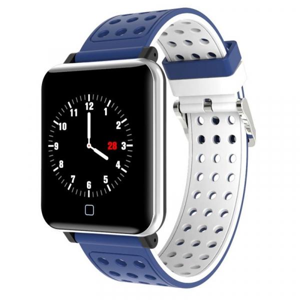 Bratara fitness MoreFIT™ M19, BT 4.0, Display color fulltouch, Puls dinamic, Oxigen, 8 Moduri sport, pedometru, Rezistenta la Apa IP67, notificare apel/mesaje/aplicatii, stand-by 15 zile, Android/iOS, 0