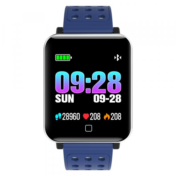 Bratara fitness MoreFIT™ M19, BT 4.0, Display color fulltouch, Puls dinamic, Oxigen, 8 Moduri sport, pedometru, Rezistenta la Apa IP67, notificare apel/mesaje/aplicatii, stand-by 15 zile, Android/iOS, 1