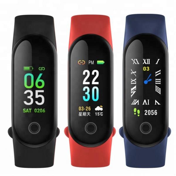 Bratara fitness MoreFIT™ M3 Plus Color, Display HD, rezistenta la apa, multi sport, monitorizare puls si tensiune, nivel oboseala, notificari apeluri mesaje si aplicatii , stand-by 15 zile, remote cam 3