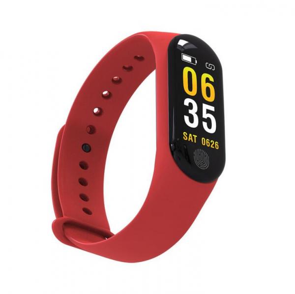 Bratara fitness MoreFIT™ M3 Plus Color, Display HD, rezistenta la apa, multi sport, monitorizare puls si tensiune, nivel oboseala, notificari apeluri mesaje si aplicatii , stand-by 15 zile, remote cam 2