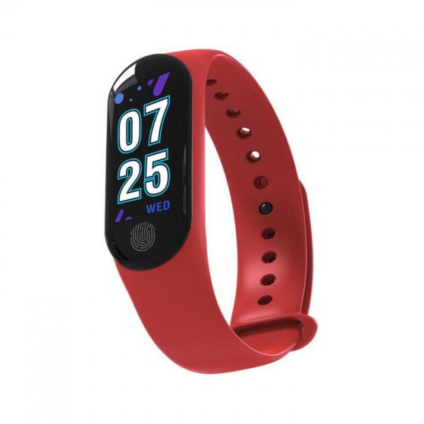 Bratara fitness MoreFIT™ M3 Plus Color, Display HD, rezistenta la apa, multi sport, monitorizare puls si tensiune, nivel oboseala, notificari apeluri mesaje si aplicatii , stand-by 15 zile, remote cam 1