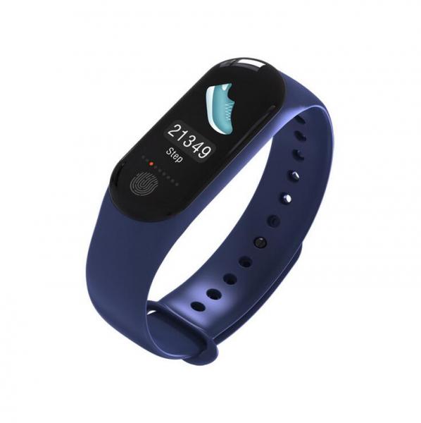 Bratara fitness MoreFIT™ M3 Plus Color, Display HD, rezistenta la apa, multi sport, monitorizare puls si tensiune, nivel oboseala, notificari apeluri mesaje si aplicatii , stand-by 15 zile, remote cam 0