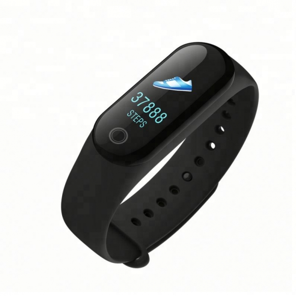 Bratara fitness MoreFIT™ M3s Plus Color, Display HD, rezistenta la apa, multi sport, monitorizare puls si tensiune, nivel oboseala, notificari apeluri mesaje si aplicatii , stand-by 15 zile, remote ca 1