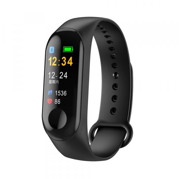 Bratara fitness MoreFIT™ M3s Plus Color, Display HD, rezistenta la apa, multi sport, monitorizare puls si tensiune, nivel oboseala, notificari apeluri mesaje si aplicatii , stand-by 15 zile, remote ca 0