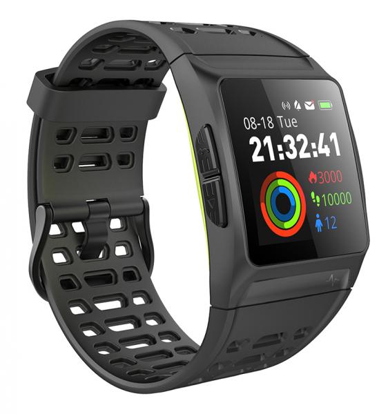 Bratara fitness MoreFIT™ P1 Plus,  BT 4.0, puls, tensiune, oxigen, nivel oboseala, stand-by 20 zile, Android, iOS, notificari, remote camera, negru 2