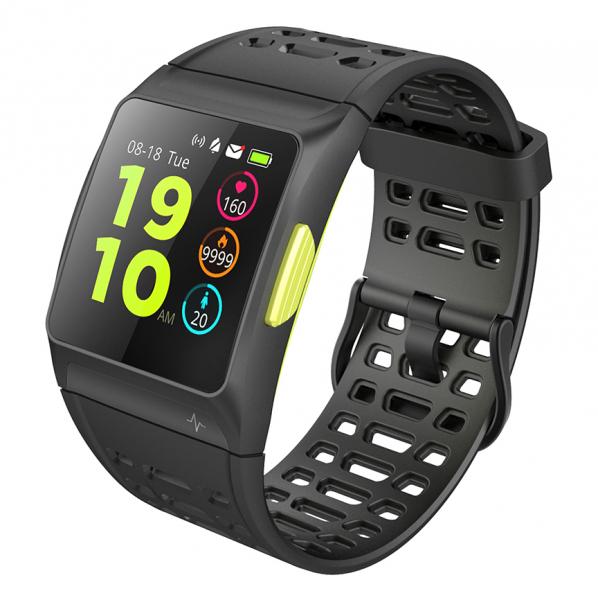 Bratara fitness MoreFIT™ P1 Plus,  BT 4.0, puls, tensiune, oxigen, nivel oboseala, stand-by 20 zile, Android, iOS, notificari, remote camera, negru 4