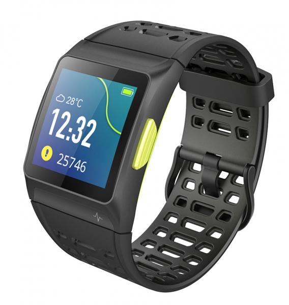 Bratara fitness MoreFIT™ P1 Plus,  BT 4.0, puls, tensiune, oxigen, nivel oboseala, stand-by 20 zile, Android, iOS, notificari, remote camera, negru 3