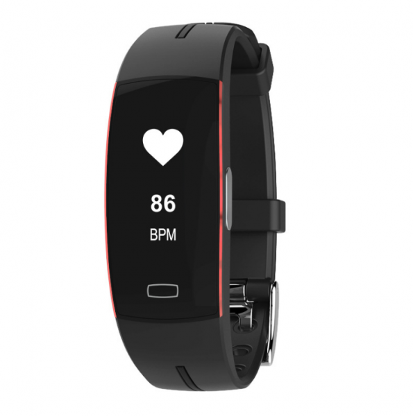 Bratara fitness MoreFIT™ P4 Pro , ritm cardiac ,PPG+EKG , tensiunea arteriala, BT 4.0, rezistenta la apa, monitorizare puls, nivel oxigen sange, Android, iOS, intrare apeluri/notificari , vibratii, ne 0