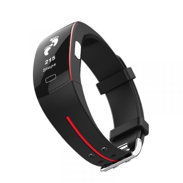 Bratara fitness MoreFIT™ P4 Pro , ritm cardiac ,PPG+EKG , tensiunea arteriala, BT 4.0, rezistenta la apa, monitorizare puls, nivel oxigen sange, Android, iOS, intrare apeluri/notificari , vibratii, ne 2