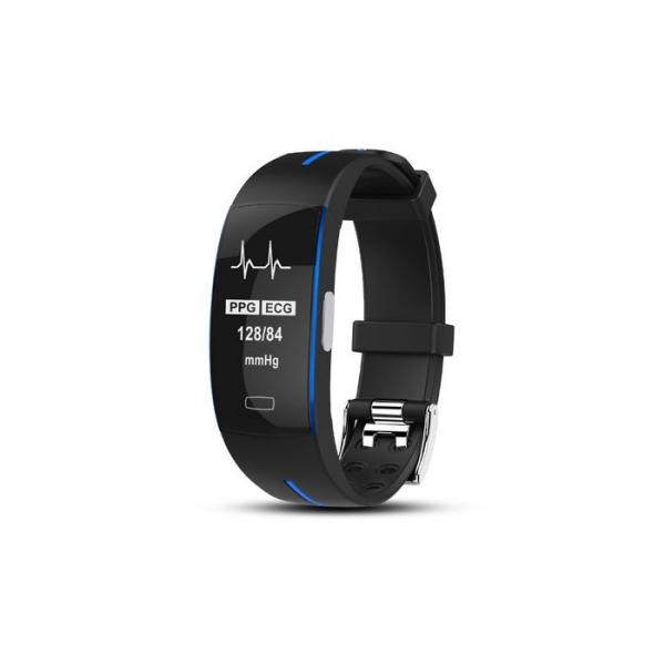 Bratara fitness MoreFIT™ P3 Plus , ritm cardiac ,PPG+EKG , tensiunea arteriala, BT 4.0, rezistenta la apa, monitorizare puls, nivel oxigen sange, Android, iOS, intrare apeluri/notificari , vibratii, n 0