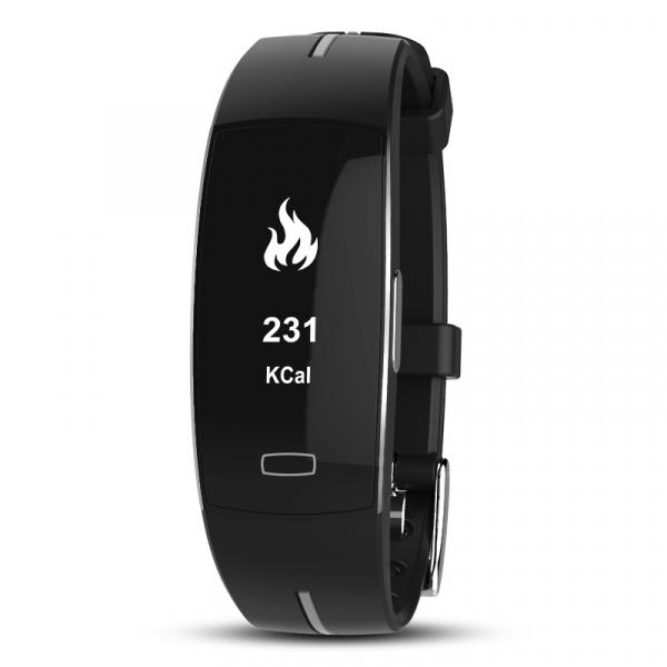 Bratara fitness MoreFIT™ P4 Pro , ritm cardiac ,PPG+EKG , tensiunea arteriala, BT 4.0, rezistenta la apa, monitorizare puls, nivel oxigen sange, Android, iOS, intrare apeluri/notificari , vibratii, ne 1