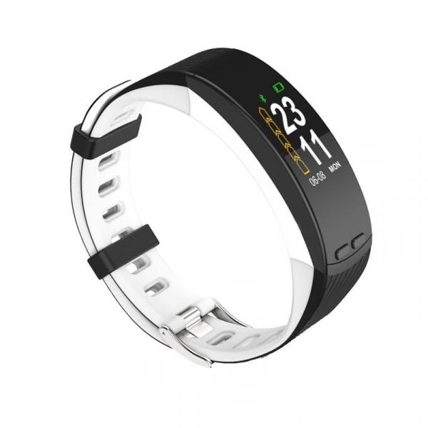 Bratara fitness MoreFIT™ P5 Plus , display color cu GPS integrat , ritm cardiac, termometru, urmarire circuit pe maps, monitorizare altitudine, rezistenta la transpiratie, monitorizare puls, Android,  0