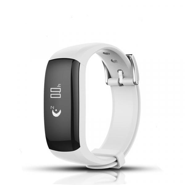 Bratara fitness MoreFIT™ P6 Pro, BT 4.0, rezistenta la apa, notificare apeluri mesaje si aplicatii, Android, iOS, 10 zile stand by, vibratii, alb [0]