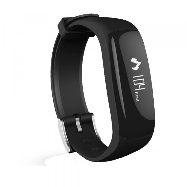 Bratara fitness MoreFIT™ P6 Pro, BT 4.0, rezistenta la apa, notificare apeluri mesaje si aplicatii, Android, iOS, 10 zile stand by, vibratii, negru 0