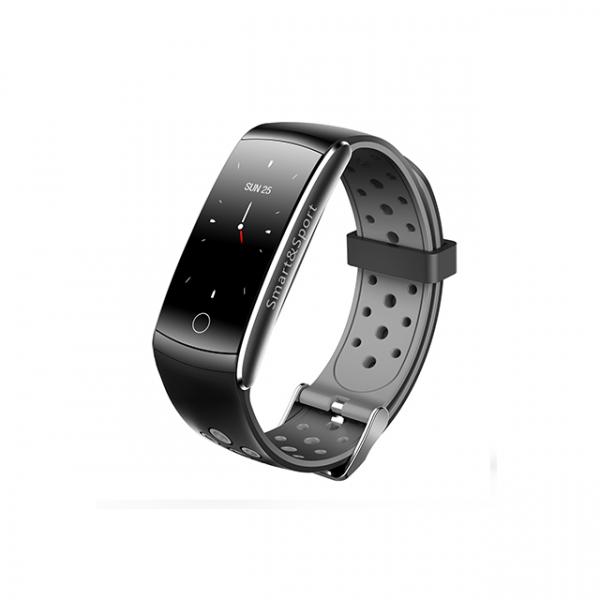 Bratara fitness MoreFIT™ Q8s Pro Color, BT 4.0, heart rate, tensiune, management somn, OLED 0.96 inch, IP68 submersibilia, Gri 1