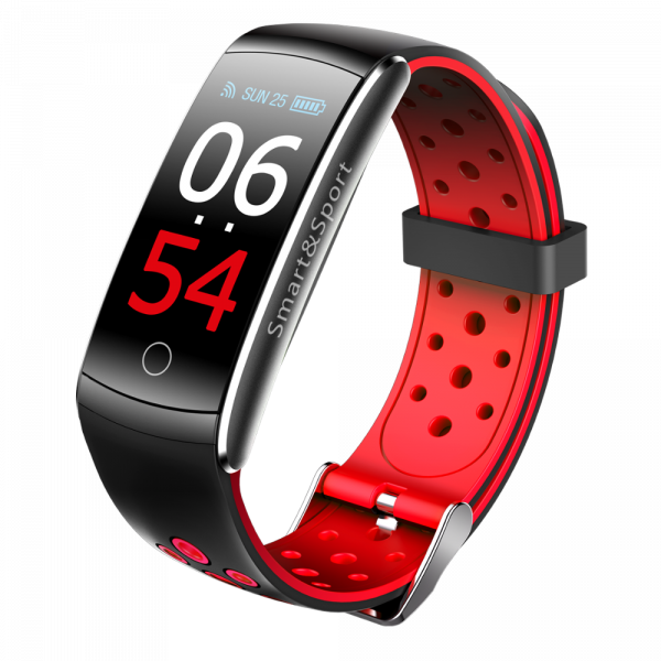 Bratara fitness MoreFIT™ Q8s Pro Color, BT 4.0, heart rate, tensiune, management somn, OLED 0.96 inch, IP68 submersibilia, Rosu 4