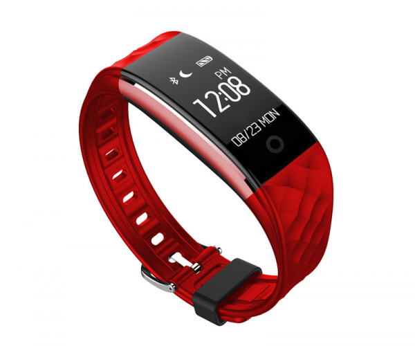 Bratara fitness MoreFIT™ S2 Pro, BT 4.0, stand by 30 zile, rezistenta la apa ip67, monitorizare puls dinamic, mod ciclism, Android, iOS, intrare apeluri, sms, vibratii, rosu [0]