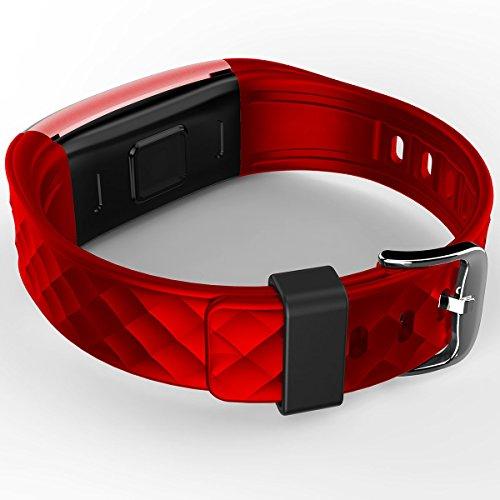 Bratara fitness MoreFIT™ S2 Pro, BT 4.0, stand by 30 zile, rezistenta la apa ip67, monitorizare puls dinamic, mod ciclism, Android, iOS, intrare apeluri, sms, vibratii, rosu [1]