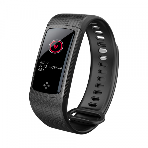 Bratara fitness MoreFIT™ S9 Pro, ecran color, BT 4.0, monitorizare puls dinamic, nivel oxigen, monitorizare somn Android, iOS, notificari, curea carbon, negru [2]