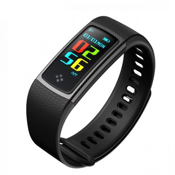 Bratara fitness MoreFIT™ S9 Pro, ecran color, BT 4.0, monitorizare puls dinamic, nivel oxigen, monitorizare somn Android, iOS, notificari, curea carbon, negru [0]