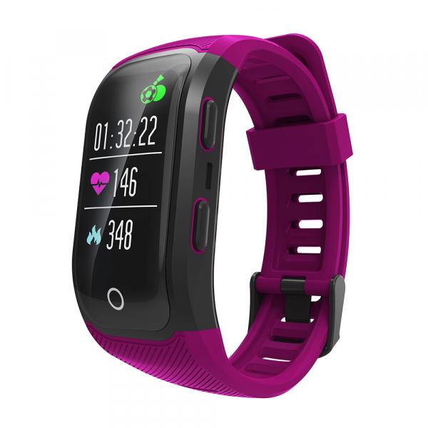 Bratara fitness MoreFIT™ S908s Premium Color, GPS, multi sport, rezistent la apa IP68, puls dinamic, ultra long stand by, Android, iOS, notificari, mov 3