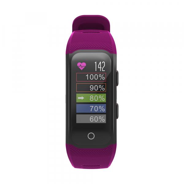 Bratara fitness MoreFIT™ S908s Premium Color, GPS, multi sport, rezistent la apa IP68, puls dinamic, ultra long stand by, Android, iOS, notificari, mov 1