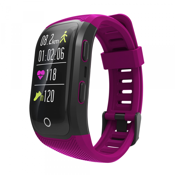 Bratara fitness MoreFIT™ S908s Premium Color, GPS, multi sport, rezistent la apa IP68, puls dinamic, ultra long stand by, Android, iOS, notificari, mov 2