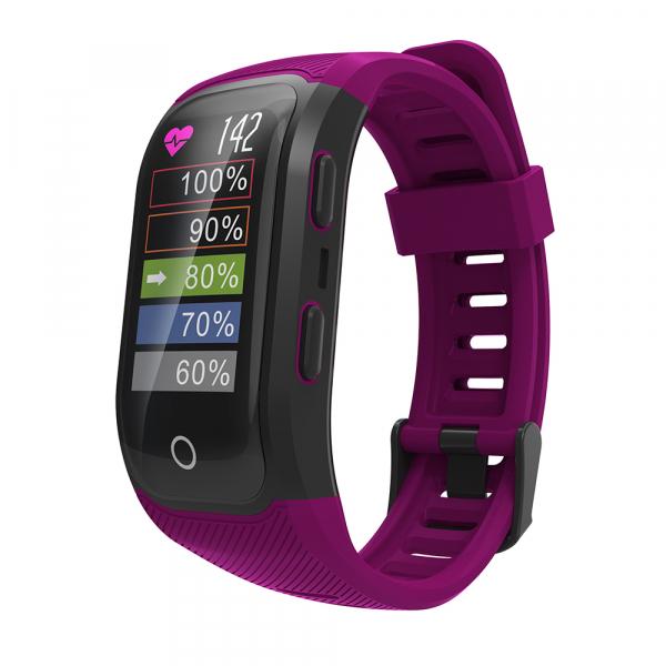 Bratara fitness MoreFIT™ S908s Premium Color, GPS, multi sport, rezistent la apa IP68, puls dinamic, ultra long stand by, Android, iOS, notificari, mov 4