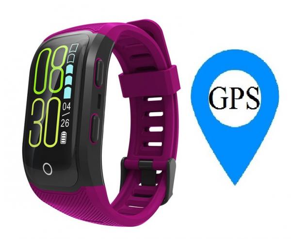 Bratara fitness MoreFIT™ S908s Premium Color, GPS, multi sport, rezistent la apa IP68, puls dinamic, ultra long stand by, Android, iOS, notificari, mov 0