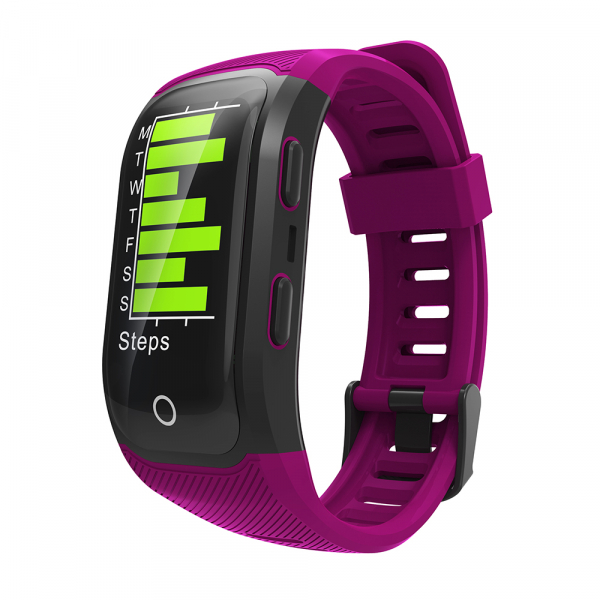 Bratara fitness MoreFIT™ S908s Premium Color, GPS, multi sport, rezistent la apa IP68, puls dinamic, ultra long stand by, Android, iOS, notificari, mov 5