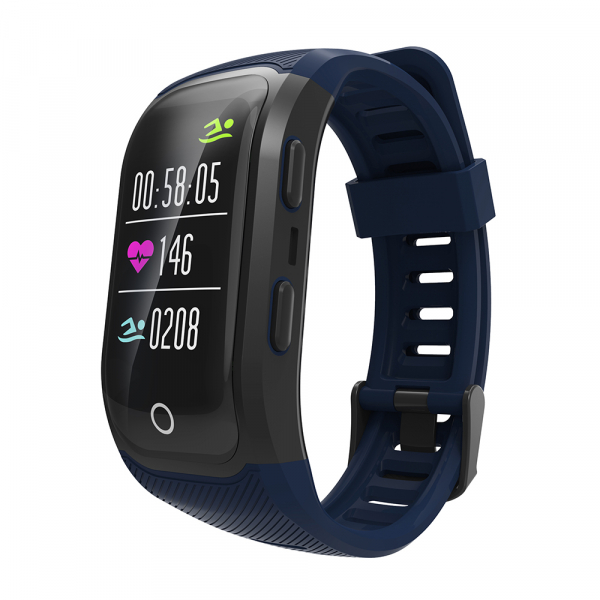 Bratara fitness MoreFIT™ S908s Premium Color, GPS, multi sport, rezistent la apa IP68, puls dinamic, ultra long stand by, Android, iOS, notificari, albastru 4
