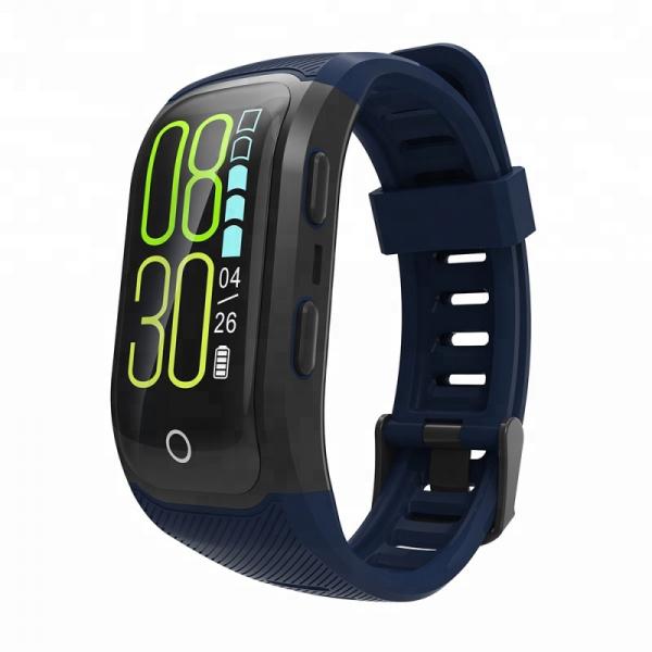 Bratara fitness MoreFIT™ S908s Premium Color, GPS, multi sport, rezistent la apa IP68, puls dinamic, ultra long stand by, Android, iOS, notificari, albastru 1