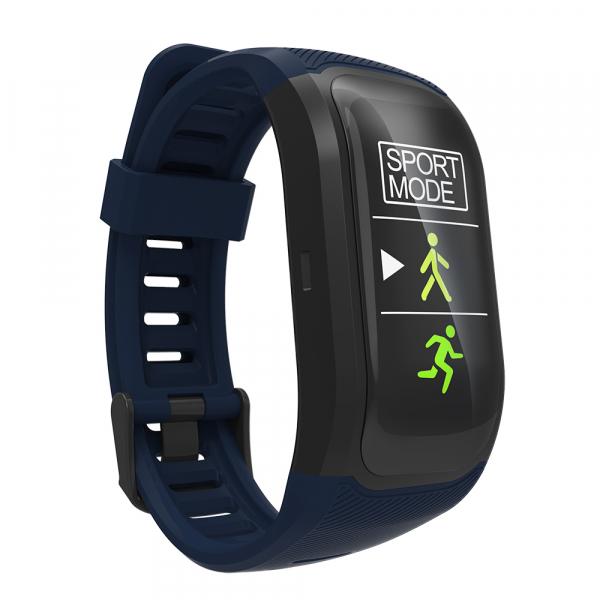 Bratara fitness MoreFIT™ S908s Premium Color, GPS, multi sport, rezistent la apa IP68, puls dinamic, ultra long stand by, Android, iOS, notificari, albastru 3