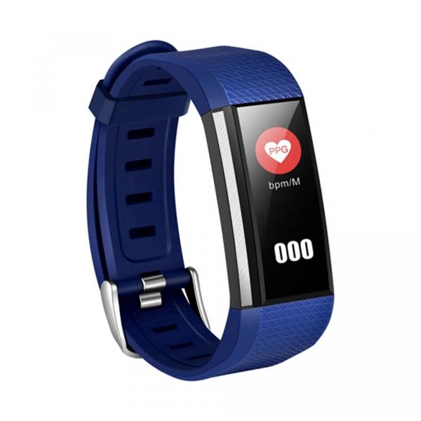 Bratara fitness MoreFIT™ W200, BT 4.0, Puls, Oxigen, Mod sport, Ecran Color, Rezistenta la Apa IP67, Notificari apeluri, Android, iOS, Remote camera, Albastru [0]