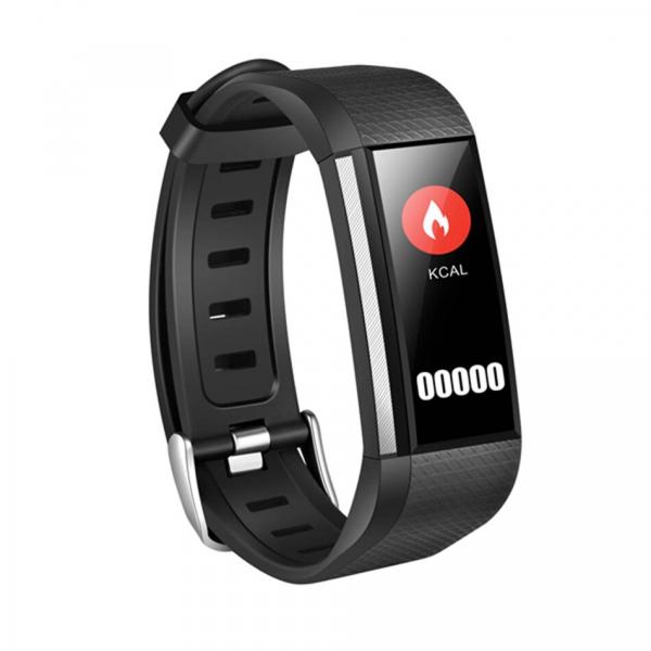 Bratara fitness MoreFIT™ W200, BT 4.0, Puls, Oxigen, Mod sport, Ecran Color, Rezistenta la Apa IP67, Notificari apeluri, Android, iOS, Remote camera, Negru 0