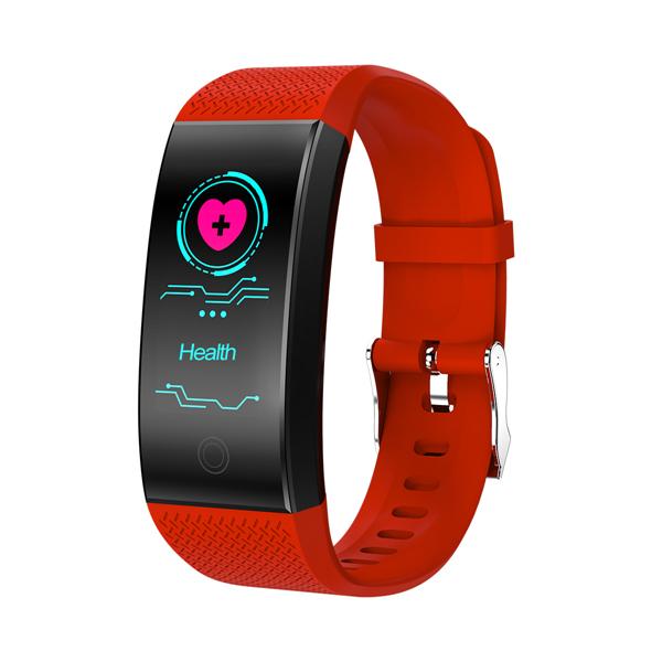 Bratara fitness MoreFIT™ W200, BT 4.0, Puls, Oxigen, Mod sport, Ecran Color, Rezistenta la Apa IP67, Notificari apeluri, Android, iOS, Remote camera, Rosu 0