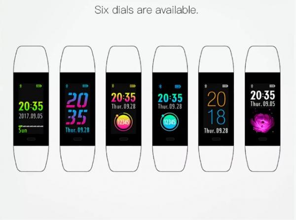 Bratara fitness MoreFIT™ W6S Smart, schimbare culori/format display, stand by 25 zile, rezistenta la apa ip67, monitorizare puls dinamic, Android, iOS, intrare apeluri, sms, vibratii, mov 1