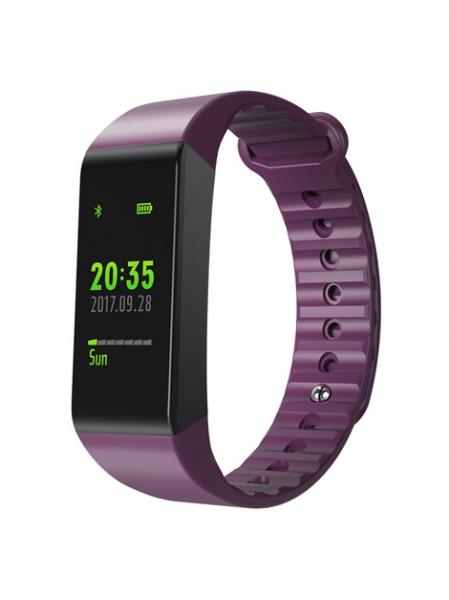 Bratara fitness MoreFIT™ W6S Smart, schimbare culori/format display, stand by 25 zile, rezistenta la apa ip67, monitorizare puls dinamic, Android, iOS, intrare apeluri, sms, vibratii, mov 0