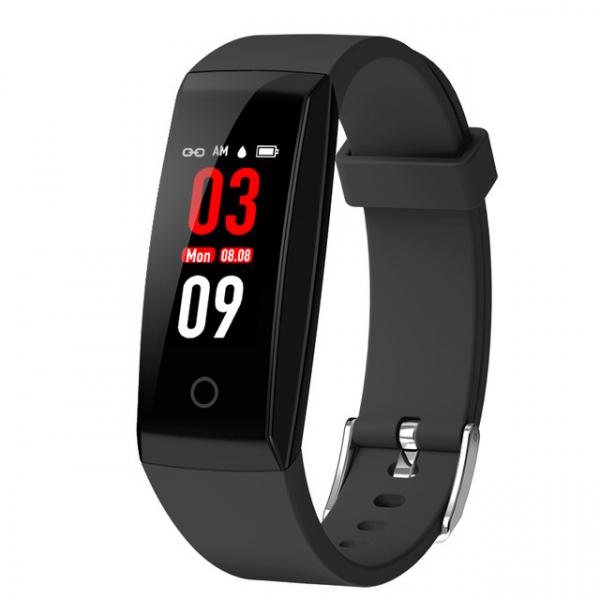 Bratara fitness MoreFIT™ W8,  BT 4.0, Puls, Afisare Apelant, Cronometru, Nivel oboseala, Android, iOS, Notificari, Stand-By 20 zile, Negru 0