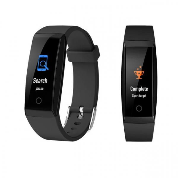 Bratara fitness MoreFIT™ W8,  BT 4.0, Puls, Afisare Apelant, Cronometru, Nivel oboseala, Android, iOS, Notificari, Stand-By 20 zile, Negru 1