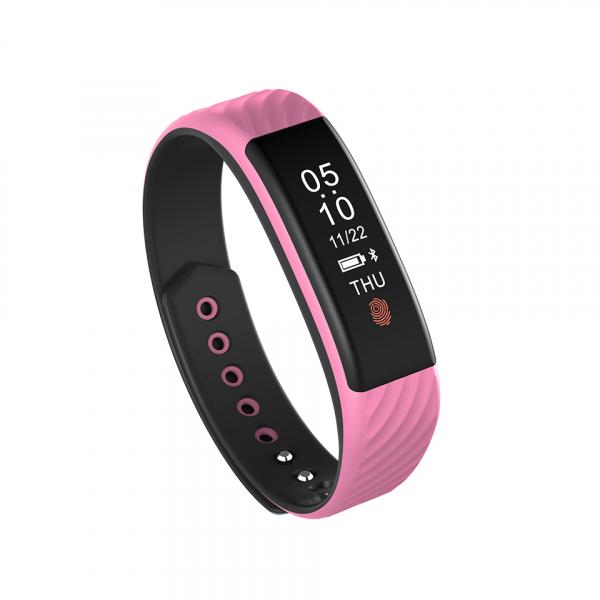 Bratara fitness MoreFIT™ W810 Plus , BT 4.0 , RAM 32 ,  notificari apeluri sms si aplicatii , stand by 10 zile, rezistenta la apa ip67, monitorizare puls dinamic, Android, iOS, vibratii, roz 0
