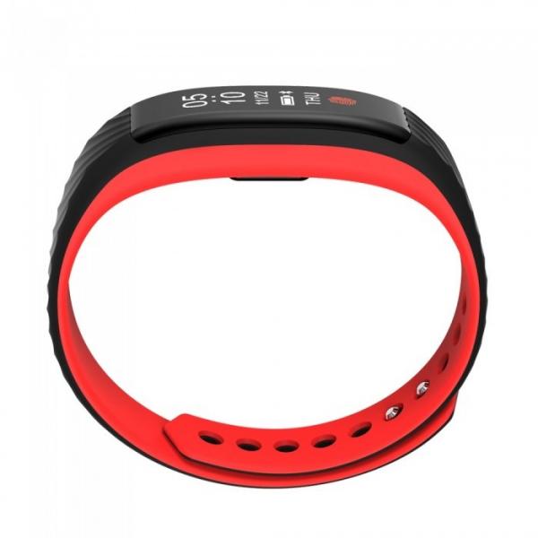 Bratara fitness MoreFIT™ W810 Plus , BT 4.0 , RAM 32 ,  notificari apeluri sms si aplicatii , stand by 10 zile, rezistenta la apa ip67, monitorizare puls dinamic, Android, iOS, vibratii, negru/rosu 2