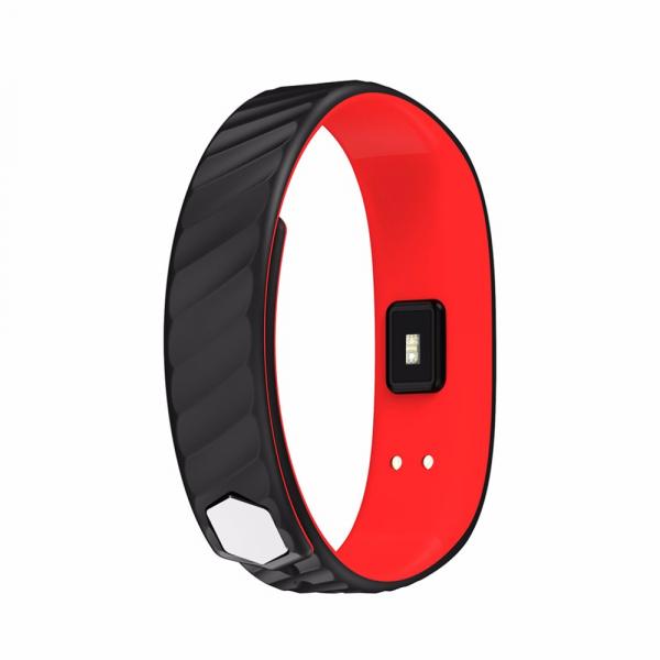 Bratara fitness MoreFIT™ W810 Plus , BT 4.0 , RAM 32 ,  notificari apeluri sms si aplicatii , stand by 10 zile, rezistenta la apa ip67, monitorizare puls dinamic, Android, iOS, vibratii, negru/rosu [1]