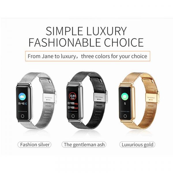 Bratara fitness MoreFIT™ Y8 , BT 4.0, Ritm Cardiac, Tensiune, Nivel Oxigen, Calorii, Pedometru, Monitorizare Somn, Notificari Apeluri si Mesaje, Anti-lost, Stand-by 15 zile, Android, iOS, Curea Otel I 3