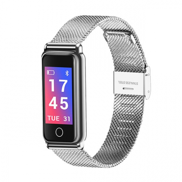 Bratara fitness MoreFIT™ Y8 , BT 4.0, Ritm Cardiac, Tensiune, Nivel Oxigen, Calorii, Pedometru, Monitorizare Somn, Notificari Apeluri si Mesaje, Anti-lost, Stand-by 15 zile, Android, iOS, Curea Otel I 0